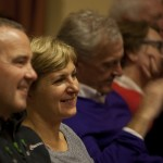 Audience smiling