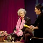 Writer Margaret Atwood interviewed on stage