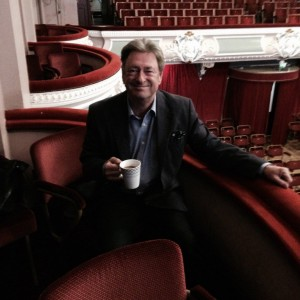 Alan Titchmarsh in his box at the Kings Hall. Photo via Twitter