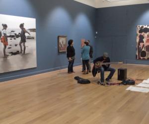 Rachel, Rommi, Nigel and Kenny in Leeds Art Gallery