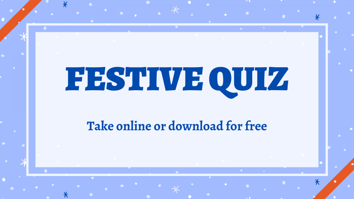Festive Quiz. Take online or download for free.